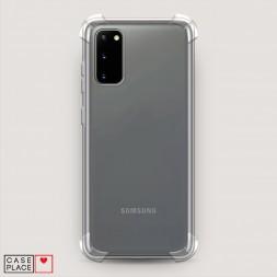 Противоударный силиконовый чехол Прозрачный на Samsung Galaxy S20