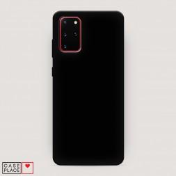 Матовый силиконовый чехол без принта на Samsung Galaxy S20 Plus