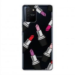 Силиконовый чехол Помады фон на Samsung Galaxy A91