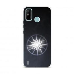 Силиконовый чехол Черное солнце на Tecno Spark 6 GO