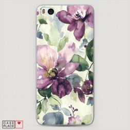 Пластиковый чехол Сиреневые цветы-акварель на Xiaomi Mi5S