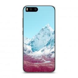 Силиконовый чехол Снежные горы на Xiaomi Mi6