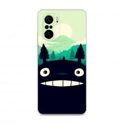 Силиконовый чехол Тоторо лес на Xiaomi Poco F3