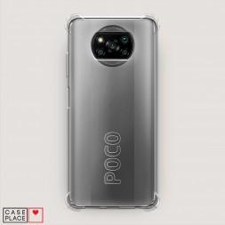 Противоударный силиконовый чехол Прозрачный на Xiaomi Poco X3 Pro