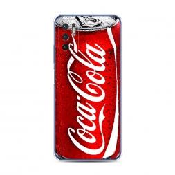 Силиконовый чехол Кока Кола на Xiaomi Redmi Note 10 5G