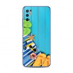 Силиконовый чехол Райское побережье на Xiaomi Redmi Note 10 5G