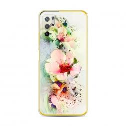 Силиконовый чехол Нежные цветы на Xiaomi Poco M3 Pro