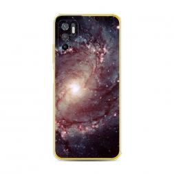 Силиконовый чехол Сиреневая галактика на Xiaomi Poco M3 Pro