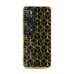 Силиконовый чехол Узор кубы черный на Xiaomi Poco M3 Pro