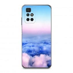 Силиконовый чехол Облака на Xiaomi Redmi 10