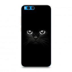 Силиконовый чехол Взгляд черной кошки на Xiaomi Mi Note 3