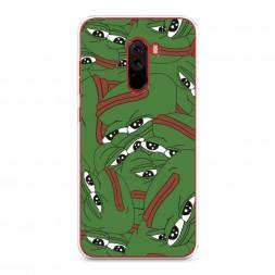 Силиконовый чехол Печальный frog на Xiaomi Pocophone F1