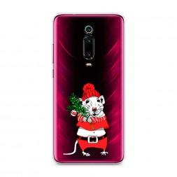 Силиконовый чехол Новогодняя крыска на Xiaomi Redmi K20 Pro