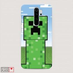 Пластиковый чехол Minecraft небо
