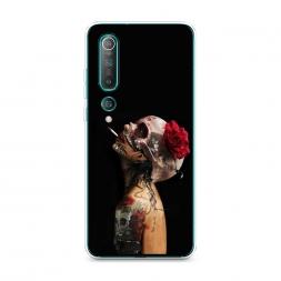 Силиконовый чехол Девушка с черепом на Xiaomi Mi 10