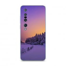 Силиконовый чехол Зима в лесу на Xiaomi Mi 10 Pro