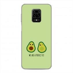 Силиконовый чехол Парочка авокадо на Xiaomi Redmi Note 9S