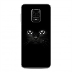 Силиконовый чехол Взгляд черной кошки на Xiaomi Redmi Note 9S