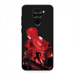 Матовый силиконовый чехол Laredevil в городе на Xiaomi Redmi 10X 4G
