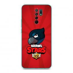 Силиконовый чехол Crow Brawl Stars на Xiaomi Redmi 9