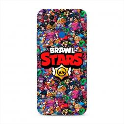 Силиконовый чехол Все герои Brawl Stars на Xiaomi Redmi 9C
