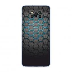 Силиконовый чехол Бирюзовые соты на Xiaomi Poco X3 NFC