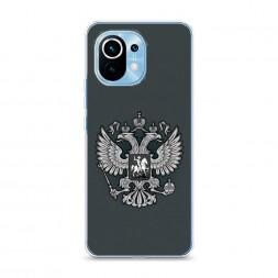 Силиконовый чехол Герб России серый на Xiaomi Mi 11