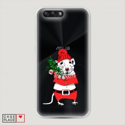 Силиконовый чехол Новогодняя крыска на Asus Zenfone 4 ZE554KL