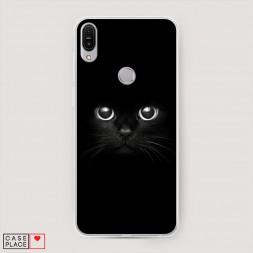 Cиликоновый чехол Взгляд черной кошки на Asus ZenFone Max Pro ZB602KL