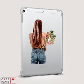 Чехол для iPad mini 4 A girl with flowers