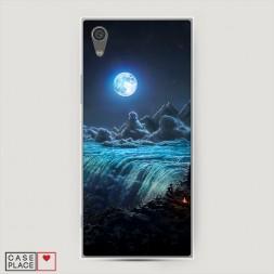 Силиконовый чехол Ночные пейзажи 3 на Sony Xperia L1