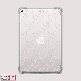 Чехол для iPad mini 3 Узор из сердечек