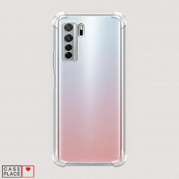 Противоударный силиконовый чехол Прозрачный на Huawei Nova 7 SE