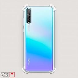 Противоударный силиконовый чехол Прозрачный на Huawei P Smart S