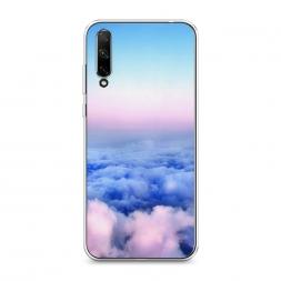 Силиконовый чехол Облака на Honor 30i