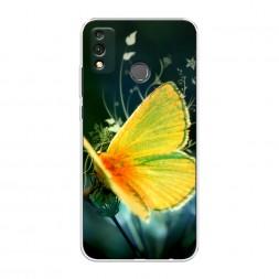 Силиконовый чехол Желтая бабочка на Honor 9X Lite