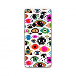 Силиконовый чехол Eyes pattern на Huawei Mate 40 Pro