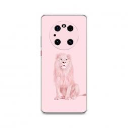 Силиконовый чехол Розовый лев на Huawei Mate 40 Pro
