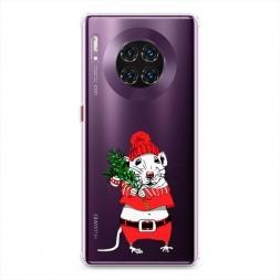 Силиконовый чехол Новогодняя крыска на Huawei Mate 30 Pro