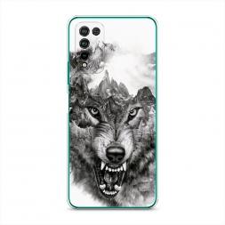 Силиконовый чехол Волк в горах на Honor 10X Lite