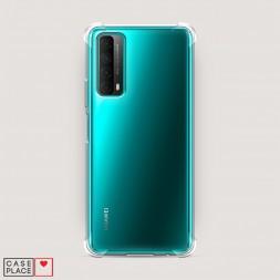 Противоударный силиконовый чехол Прозрачный на Huawei P Smart 2021