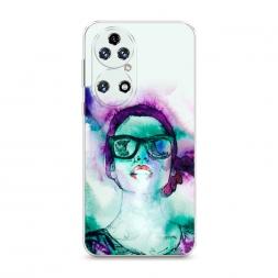Силиконовый чехол Vaper girl 1 на Huawei P50