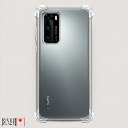 Противоударный силиконовый чехол Прозрачный на Huawei P40