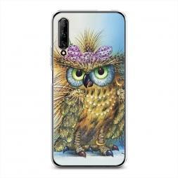 Силиконовый чехол Модная сова на Huawei Y9s
