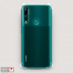 Противоударный силиконовый чехол Прозрачный на Huawei Y9 Prime 2019