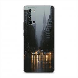 Силиконовый чехол Дождливый Нью Йорк на Huawei Honor 30 Pro Plus