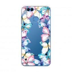 Силиконовый чехол Рамка из бабочек на Huawei Nova 2 Plus