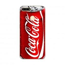 Силиконовый чехол Кока Кола на Honor 7C