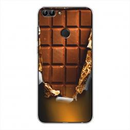 Силиконовый чехол Шоколадка на Huawei Y9 2018