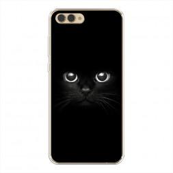 Силиконовый чехол Взгляд черной кошки на Huawei Honor V10 (View 10)